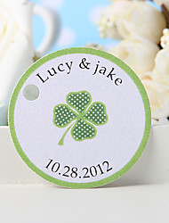 Personalized Favor Tag - Green Grass (Set of 36)