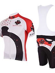 KOOPLUS Men's Cycling Suits Short Sleeve Bike Spring / Summer Breathable / Quick Dry White S / M / L / XL / XXL / XXXL / XS / XXXXL