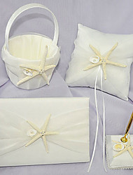 Beach Themed Wedding Collection Set with Starfish and Shell (4 Pieces)