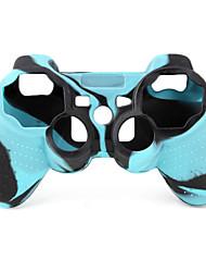 Schutz-Dual-Colour-Stil Silikon-Hülle für PS3 Controller (blau und schwarz)