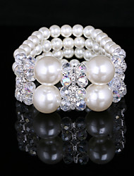 Fashion Ladies' Imitation Pearl Elastic Style Bracelet