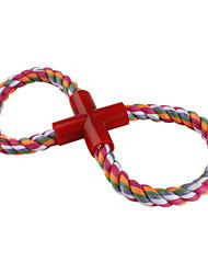 dura la cuerda trenzada al estilo mascota de juguete para perros (25 x 12 cm)