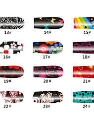 Цветы 20 советов ногтей наклейки