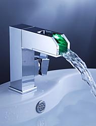 changement de couleur robinet conduit lavabo cascade salle de bains avec vidage - Blade Series