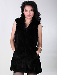 Fur Vest With Nice Sleeveless Party/Evening Rabbit