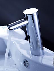 bronze torneira pia do banheiro com o pop up resíduos e sensor automático (frio)