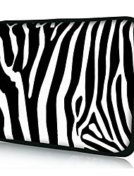 "neoprene zebra listra caso manga laptop para 10 ""11"" 13 ""15"" macbook ipad dell hp acer samsung"