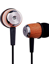 Kanen Retro Wood Stereo In-Ear Earphone with Replaceable Ear Cushions