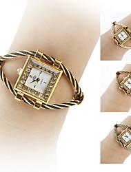 Mulheres Relógio de Moda Relógio de Pulso Bracele Relógio Quartzo imitação de diamante Banda Preta Branco Azul Vermelho Rosa RoxaPreto