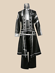 Inspired by D.Gray-man Allen Walker Anime Cosplay Costumes Cosplay Suits Patchwork Black Long Sleeve Coat Pants Badge Pocket For