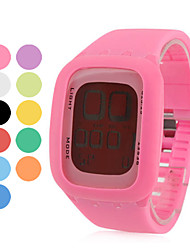 Unisex Digital LED Style Multi-Functional Silicone Wrist Watch (Assorted Colors) Cool Watches Unique Watches