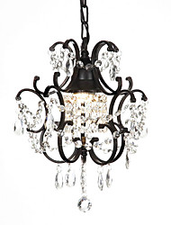 60W Modern Chandelier with Crystal Beads
