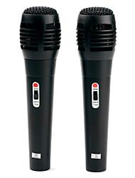 Coppia di microfoni da Karaoke USB per Wii, PS3, Xbox 360 e PC (confezione di vendita) - Nero
