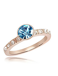 Anéis Mulheres Cristal Pedaço de Ouro Rose Pedaço de Ouro Rose Natureza 6 / 7 / 8 DouradoRepresentação de estilo & cor pode variar de