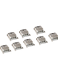 10 Pieces USB Female 4 Pin Type-A DIP Socket Connector DIY