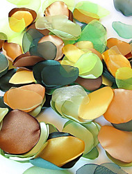 """Wedding Décor 2.5"""" Handmade Green Leaves Decoration - Pack of 200 Pieces (5 Colors Mixed)"""