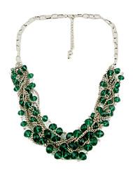 cristal dames métalliques belles des collier (plus de couleurs)