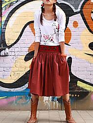 мода рябить женской юбкой