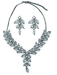Fashion Alloy With Crystal Women's Jewelery Set Including Necklace,Earrings