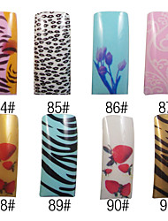 70 Pcs Full Cover Nice French Acrylic Nails Tips 8 Colors Available