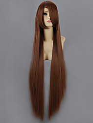 Cosplay Wigs Naruto Mei Terumi Brown Long Anime Cosplay Wigs 100 CM Heat Resistant Fiber Female