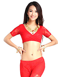 dancewear rendas de dança do ventre top de manga curta para senhoras mais cores