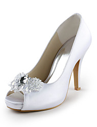 Mujer Zapatos de boda Tacones/Punta Abierta Tacones Boda/Fiesta y Noche Negro/Azul/Rosa/Morado/Rojo/Marfil/Blanco/Plata/Oro/Champán