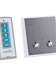 2-fach digitalen drahtlosen Fernbedienung LED-Licht-Schalter (180-250V)