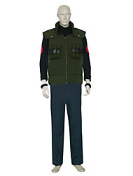 Inspired by Naruto Asuma Sarutobi Anime Cosplay Costumes Cosplay Suits Color Block Long Sleeve Vest Pants Bracelet T-shirt For Male