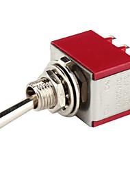 controle de energia elétrica diy 9 pinos de prata-switch vermelho de alternância (5 peça-pack)