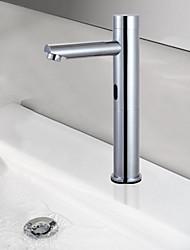 Messing Zeitgenössische Chrome Finish Sensor Waschbecken Wasserhahn