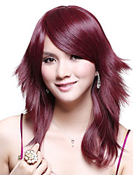 Capless Medium High Quality Synthetic Straight Wig