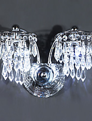 Crystal/LED/Bulb Included Wall Sconces , Modern/Contemporary LED Integrated Metal