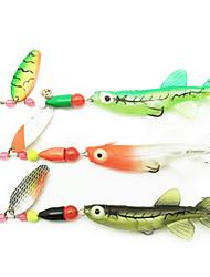 70mm souples Packs leurre en plastique pour la pêche en mer avec 6 # Crochets (3 pièces)