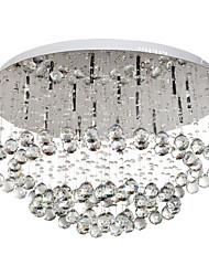 Modern Crystal Flush Mount with 16 Lights
