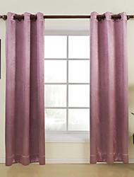 twopages® (dois painéis) em relevo roxo quarto sólida cortina de escurecimento