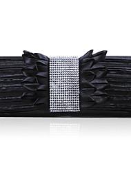 Fold Decoration Matt Satin Materials Lady Hand Bag More Colors Available