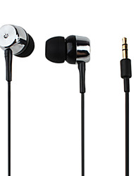 Kanen Extra Bass Coherence-mute In-Ear Earphones for iPhone iPad (Silver)