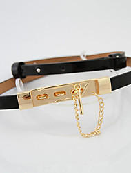 Candy-color Leather Belt