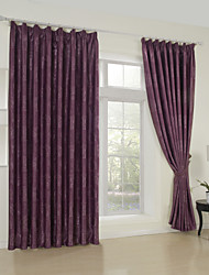 (One Panel)Traditional Floral Jacquard Blackout Curtain
