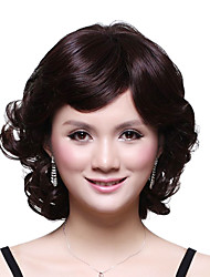 Capless Short Top Grade Synthetic Japanese Kanekalon Elegant Curly Wig Side Bang