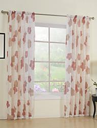 país dois painéis florais botânicos quarto vermelho cortinas de poliéster shades