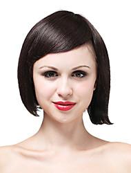 Mono Top High Quality Human Hair Short Brown Wave Hair Wig