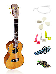 Yadars - (YC-MH21) High-Grade Solid Mahogany Concert Ukulele with Gig Bag/String/Picks/Capo