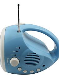 Camping-3-Modus 12-LED-Taschenlampe mit Radio (Dynamo / usb, blau)