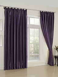 Modern Two Panels Floral  Botanical Purple Bedroom Rayon Curtains Drapes