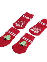 Christmas Tree Anti-Skid Socks for Dogs (S-L)