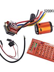 skyrc toro 10 c120 120a esc conjunto de combinação sensorless (toro c120 esc 5200 kvmotor + cartão de programa)
