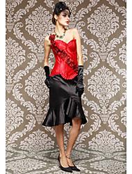 Viscose Com Flor Strapless Shapewear Espartilhos Lace-up (mais cores)