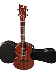 shaka - (lac-1) sólido mogno concerto ukulele Havaí com caso show